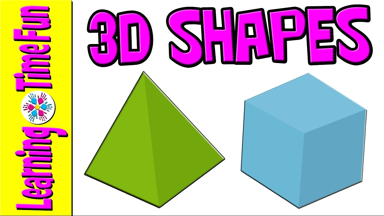3D Shapes for Kids | 3D Shapes Names | Geometric Shapes | Math for ...