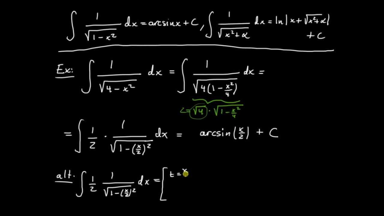 Primitiva funktioner del 14 - primitiv till rotuttryck av grad två, introduktion