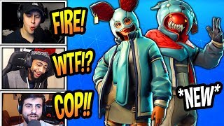 STREAMERS REACT TO *NEW* FLAPJACKIE & GROWLER SKINS! *EPIC* Fortnite FUNNY & SAVAGE Moments
