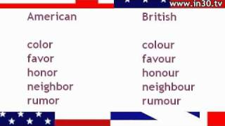 English in 30 Seconds - Common American and British Spelling Differences