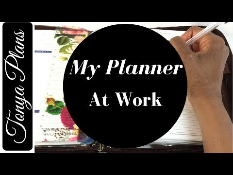 My Franklin Covey Planner appointments, Outlook and looking busy at work!