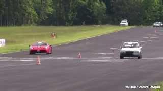 Opel Kadett WKT 685HP blows away Ferrari 458 Speciale   9ff Porsche 997 Turbo S