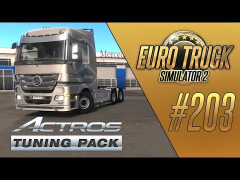 MERCEDES-BENZ ACTROS MP3 (Actros Tuning Pack DLC) - Euro Truck Simulator 2 (1.35.1.150s) [#203]