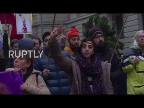 Germany: Pro-Kurdish activists denounce Erdogan govt. on Human Rights Day