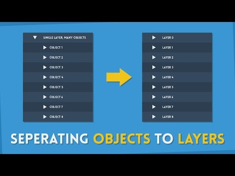 How To Seperate Objects to Their Own Layers | Illustrator Tutorial