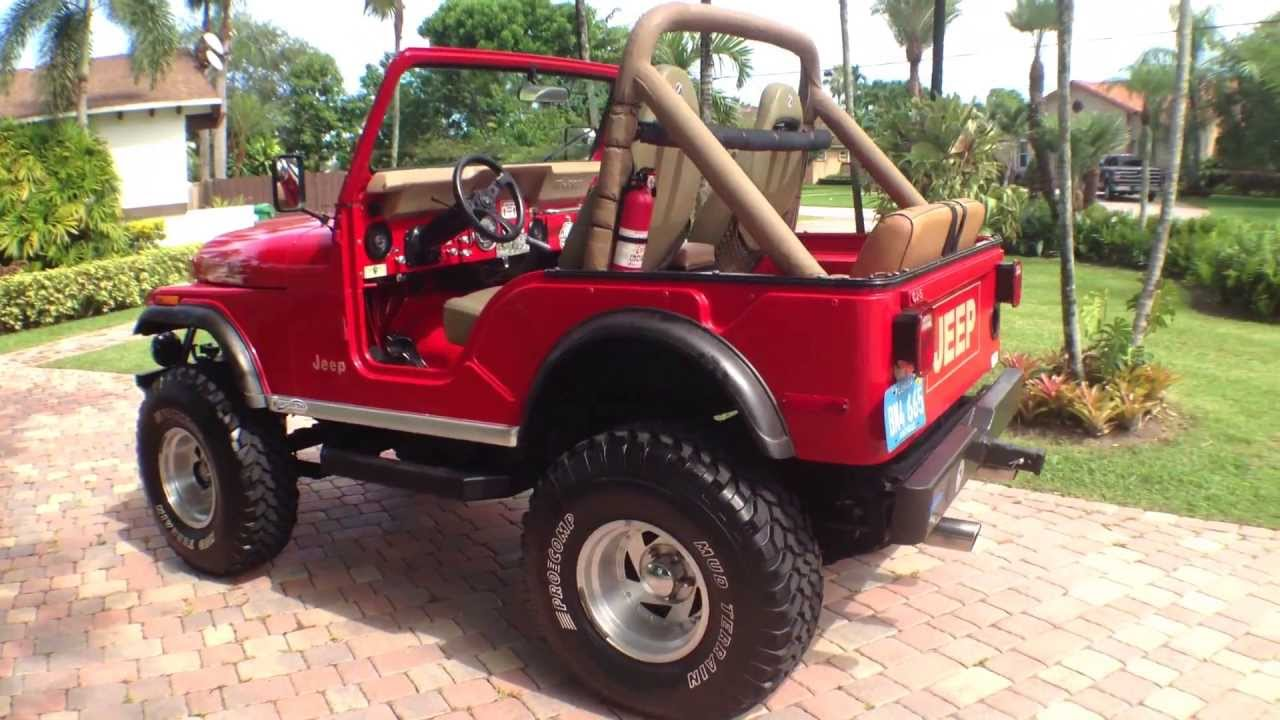 jeep cj5 walk around and drive was for sale v8 amc 304 youtube [ 1280 x 720 Pixel ]
