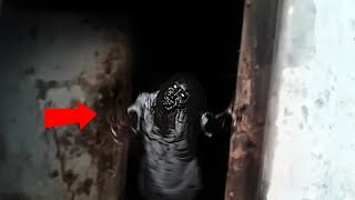 Real ghost girl caught from an abandoned place   Latest scary Videos