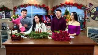 """""""Bishkek Flowers""""  гүл дүкөнүнүн флористеринен  жаңы жылдык композиция"""