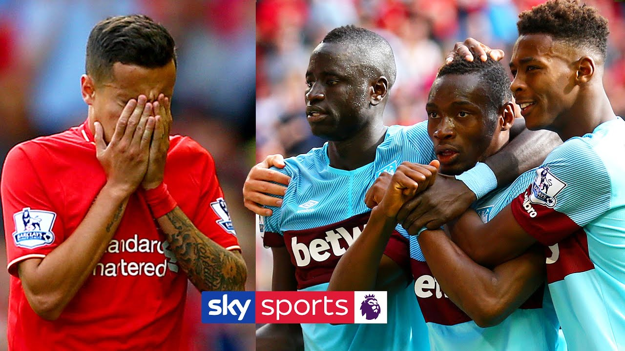 West Ham STUN Liverpool as Coutinho is sent off