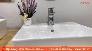 TDM.VN | Giới thiệu lavabo TOTO LT710CSR + TLG04301V vòi chậu rửa mặt nóng lạnh chính hãng