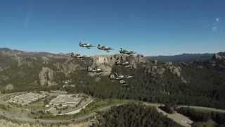 Breitling Jet Team flies over Mount Rushmore National Memorial