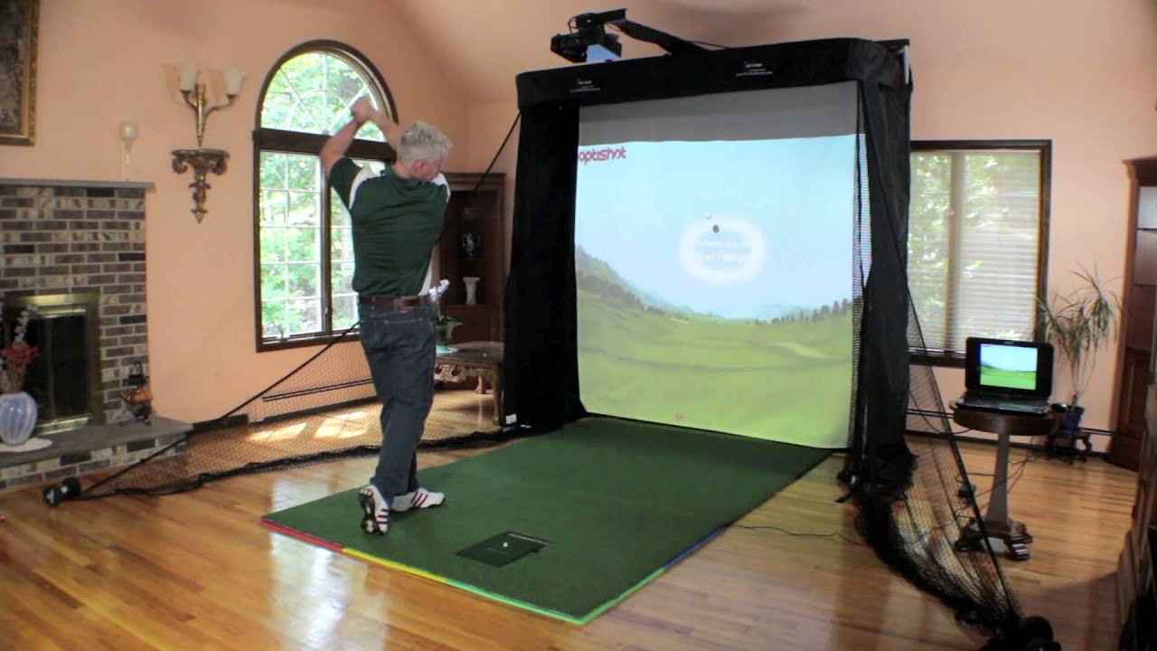 The Net Return - Simulator Series Golf Hitting Bay - YouTube