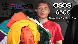 Enorme Haul ASOS -650€ de vêtements de marque (Fila,Adidas,The North Face...)