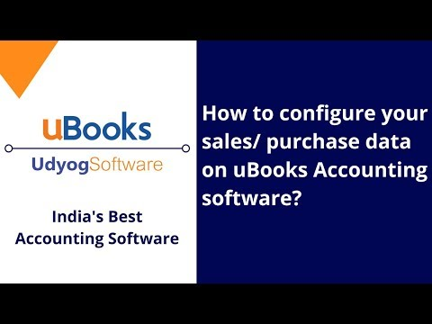 How to configure your sales/ purchase data on uBooks Accounting software?