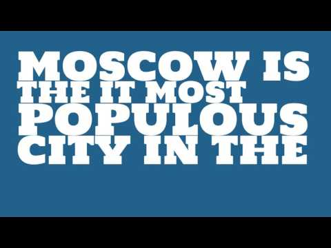 What is the population density of Moscow?