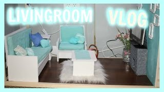 VLOG! Making an American Girl Doll Livingroom Furniture and Decor