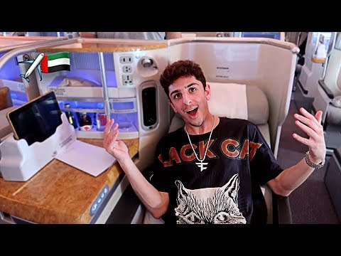 MY INSANE $15,000 AIRPLANE SEAT!! (I'M IN DUBAI)