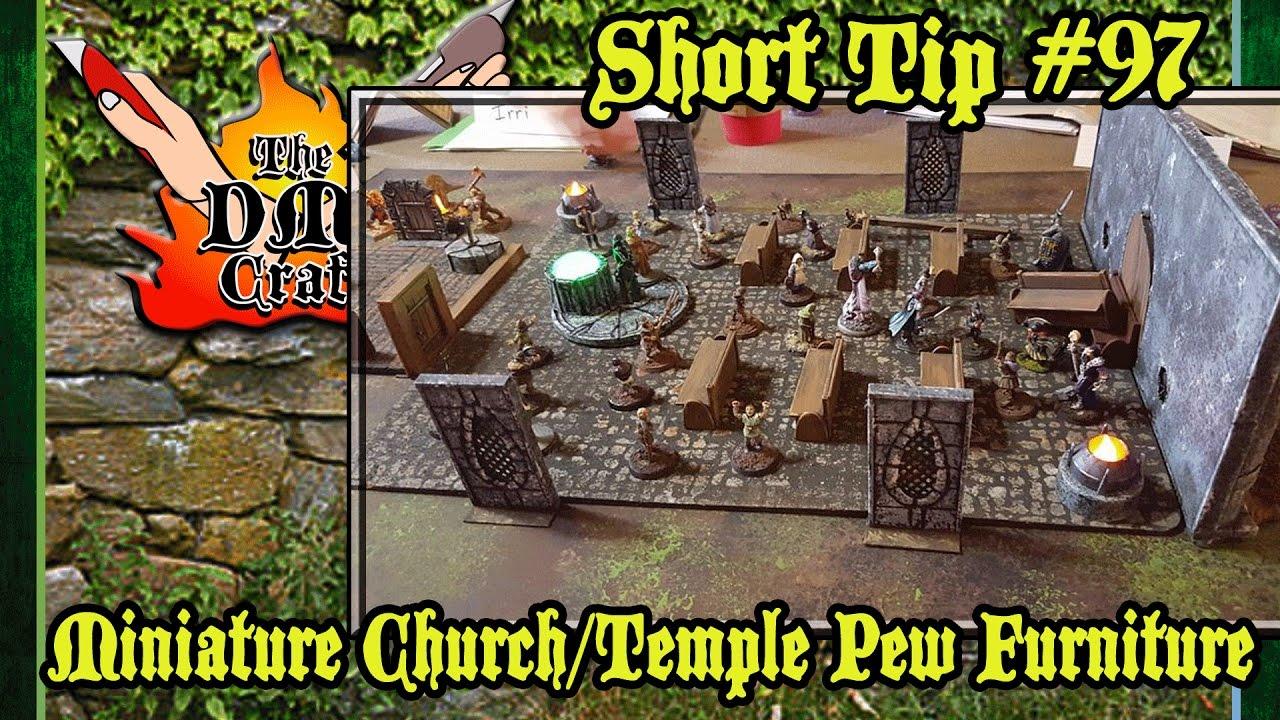 Make Miniature Church Pews (DM's Craft Short Tip #97)