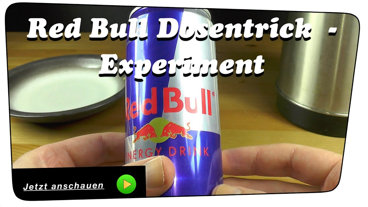 Red Bull Dosentrick - Experiment | Tutorial - YouTube