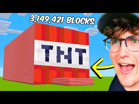 Blowing Up 3,149,421 TNT To Break a Minecraft Record