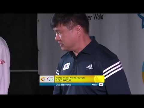 Medals Ceremony | P1 men's 10m air pistol SH1 | 2014 IPC Shooting World Championships Suhl