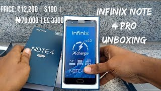 Infinix Note 4 Pro Unboxing and First Impressions