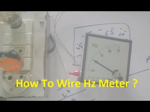 How To Wire Frequency  Hertz Meter For Generator (Hz