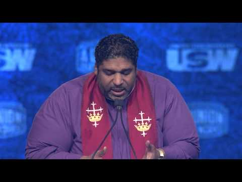 What A Day: Rev. Dr. William Barber II addresses the USW (FULL)