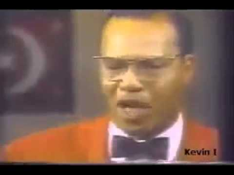 Min. Louis Farrakhan puts racists white reporter in check during an interview.