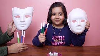 تحدي التلوين ب3 الوان القناع  !!!  3Marker Halloween Mask Challenge