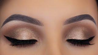 Brown Bronze Eye Makeup Tutorial   Everyday Glam
