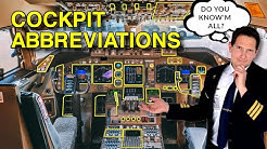 COCKPIT/INSTRUMENT abbreviations! DO YOU KNOW THEM ALL? Explained by CAPTAIN JOE