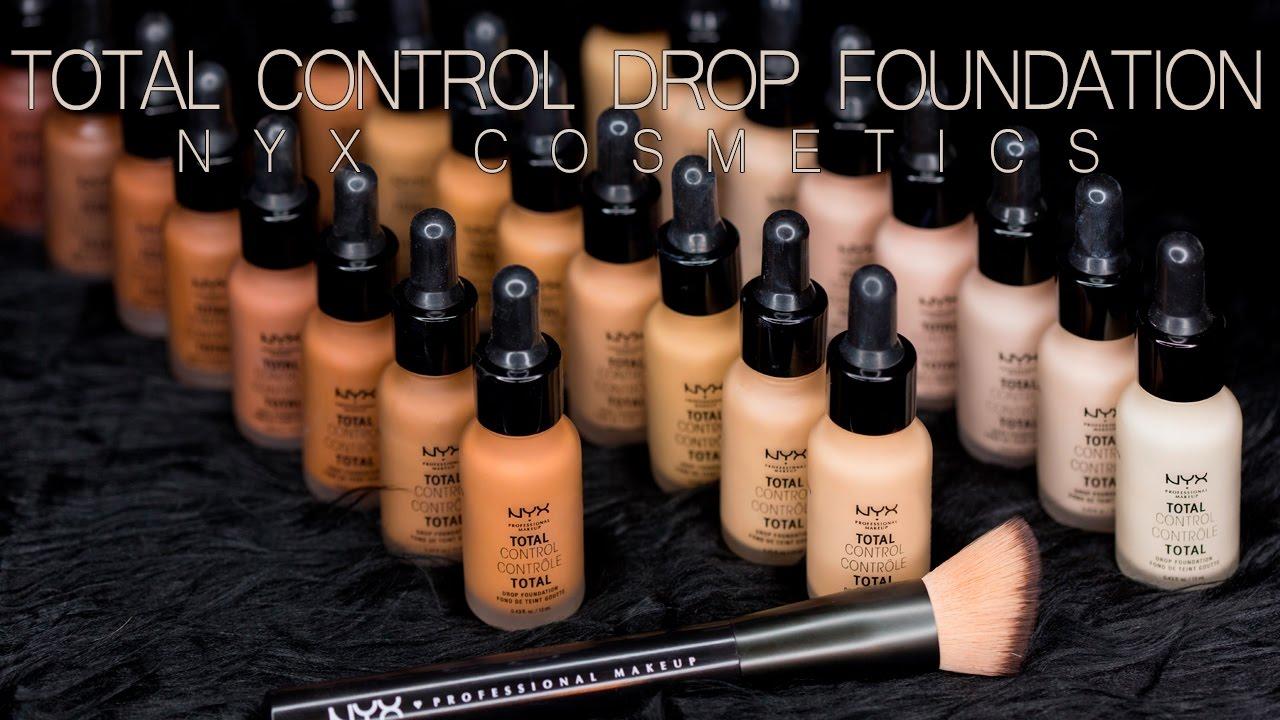60507fbc1 Total Control Drop Foundation all 24 shades - NYX COSMETICS - YouTube