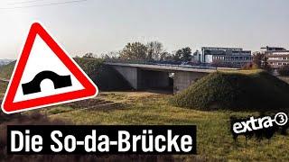 Realer Irrsinn: Eine Brücke im Nichts für Nichts