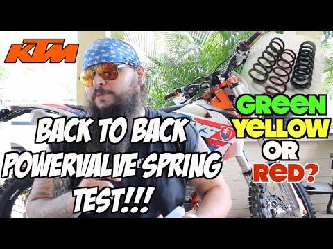 KTM 300 XCW Powervalve Spring Test: Red vs. Yellow vs. Green