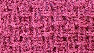 Такой простой и необычный эффект   Узор вязания спицами Knitting stitch  62