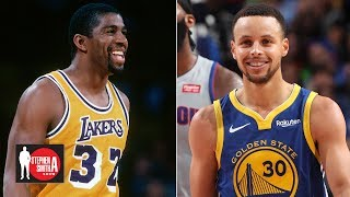 Allen Iverson picks Curry, Kobe over Magic Johnson in all-time starting 5 | Stephen A. Smith Show