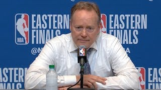 Mike Budenholzer Postgame Interview - Game 1 | Raptors vs Bucks | 2019 NBA Playoffs
