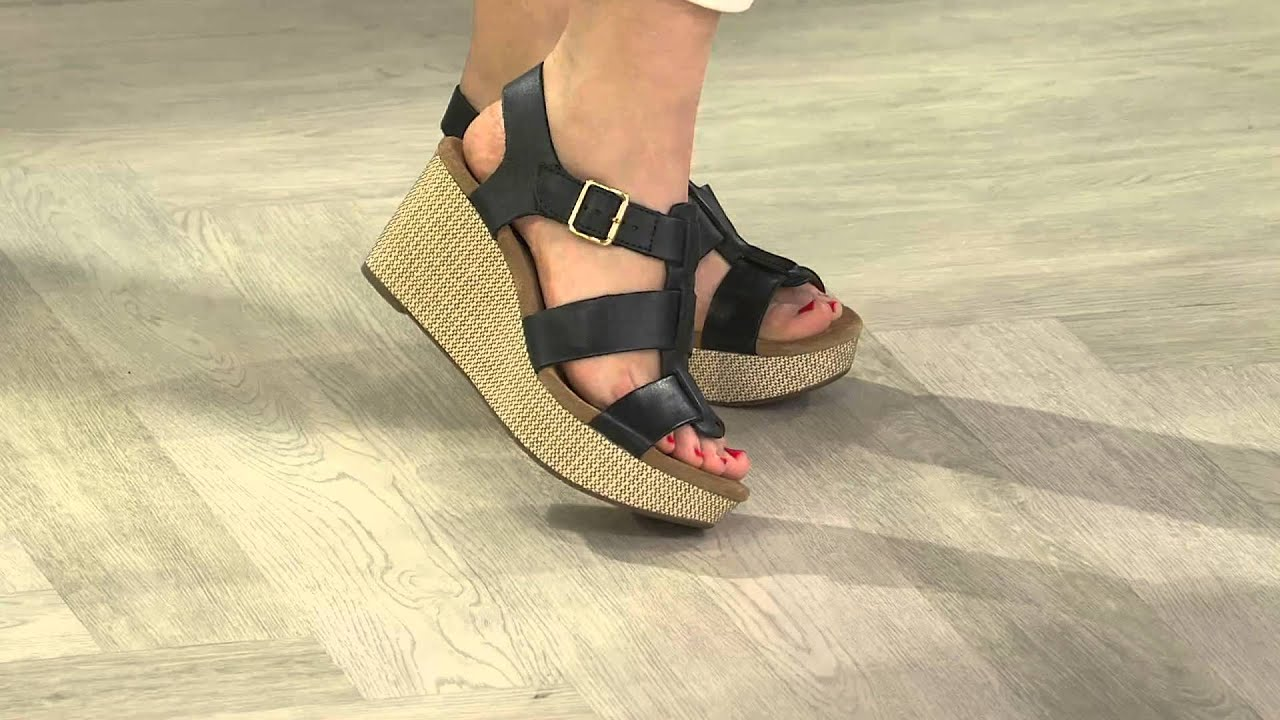Clarks Artisan Leather Strap Wedges - Caslynn Reece with Amy Stran