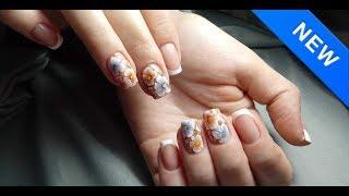 Летний дизайн ногтей гель-краской