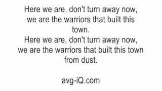 Warriors by Imagine Dragons acoustic guitar instrumental cover lyrics karaoke backing track Mp3