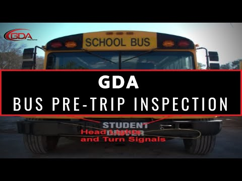 GDA Training School Bus Pre-Trip Inspection - YouTube