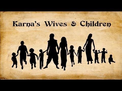 Karnas Family | Wives & Children | Mahabharata