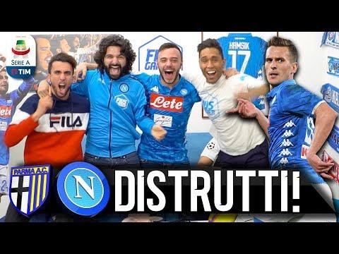 DISTRUTTI!!! PARMA 0-4 NAPOLI   LIVE REACTION NAPOLETANI HD