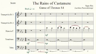 Game of Thrones: The Rains of Castamere (Sigur Rós) - Brass Quintet