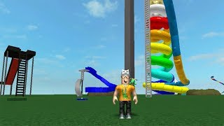 ROBLOX: THE OLD MAN WENT TO THE LAND OF THE WACKY SLIDES! -Play Old man