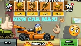 Hill Climb Racing 2! New Car Formula Maxed Gameplay!