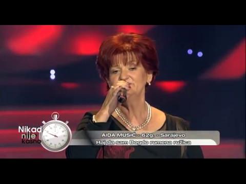 Aida Music - Haj da sam Bogdo rumena ruzica - (live) - Nikad nije kasno - EM 03 - 16.10.2016
