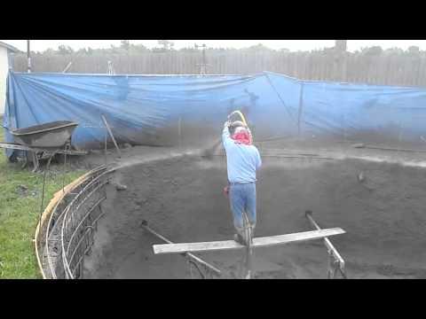 Cobalt Custom Pools, LLC guniting a pool
