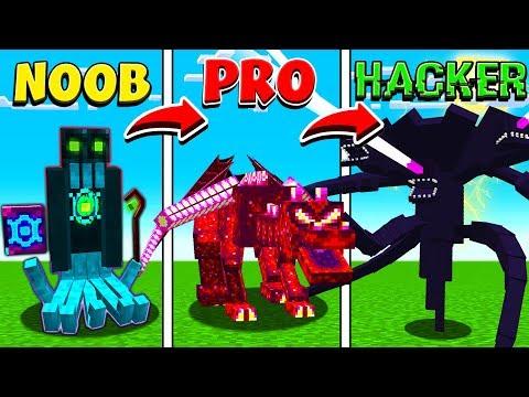 MINECRAFT NOOB vs PRO vs HACKER BOSSES! thumbnail